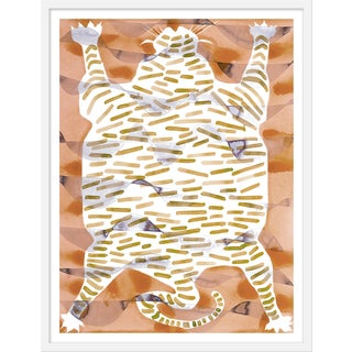 "Medium ""Tiger Rug Camel & Tan"" Print by Kate Roebuck, 27"" X 35"""