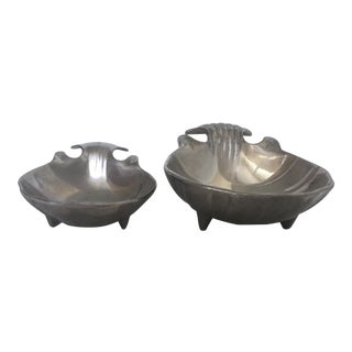 The Wilton Company Pewter Shell Motif Bowls - A Pair