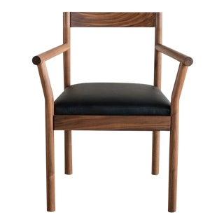 Feast Armchair in Walnut For Sale