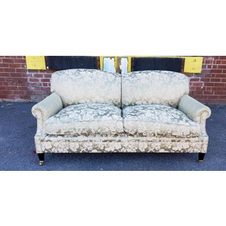 George Smith Laid Back Scroll Arm Signature Damask Medium Sofa Model S105m Preview