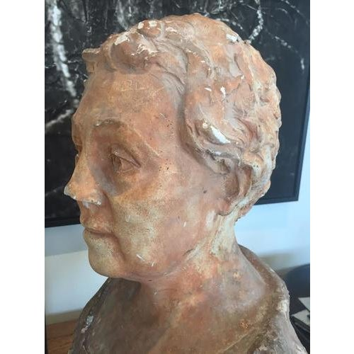Terra Cotta Bust, Early 20th Century For Sale In Nashville - Image 6 of 10