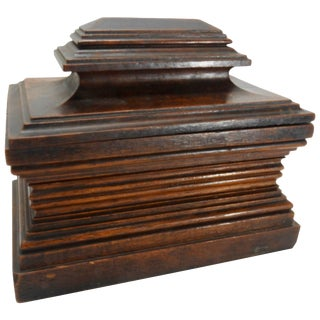 Vintage Walnut Dresser Box For Sale