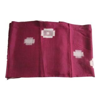 Vintage Burgundy and Natural Obi Textile For Sale
