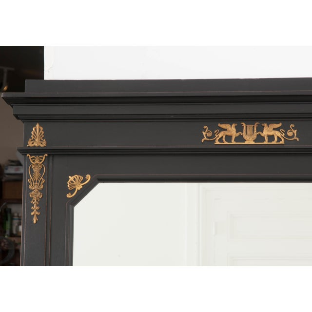 French 19th Century Second Empire Ebonized Console and Mirror For Sale - Image 9 of 13