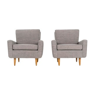 1950s Mid-Century Modern Florence Knoll Early Lounge Chairs - a Pair
