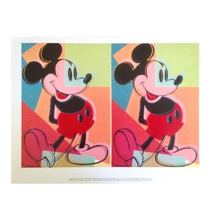 """Andy Warhol Foundation Rare 1995 Lithograph Print """" Double Mickey """" 1981"""