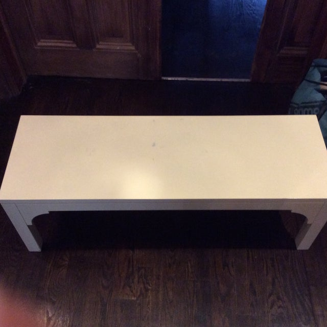 Restoration Hardware White Bench - Image 5 of 8