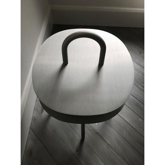 "Contemporary ""Taco"" Aluminum Side Table by Francesca Lanzavecchia For Sale - Image 3 of 7"