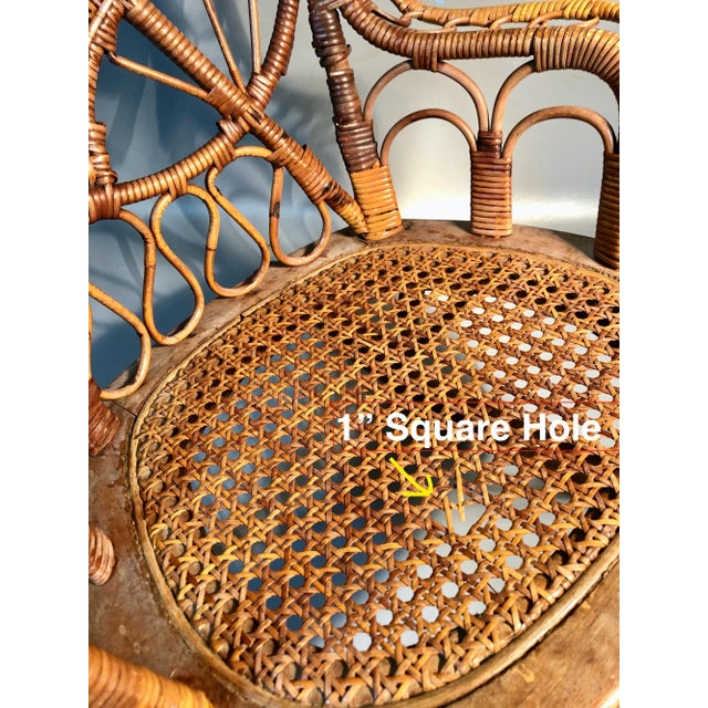 Late 19th Century Late 19th Century C1860 Victorian Childs Rocking Chair Wicker Rattan Rocker Attrib. To Heywood Wakefield For Sale - Image 5 of 8