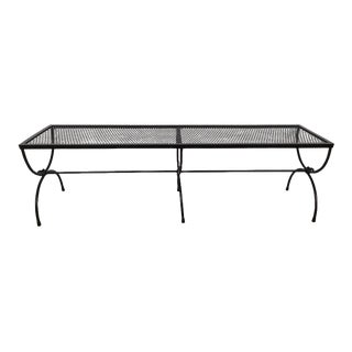 Salterini Wrought Iron Double Curule Bench