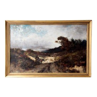 19th Century Oil on Canvas Landscape Painting by Known Painter Gustav Eggena For Sale