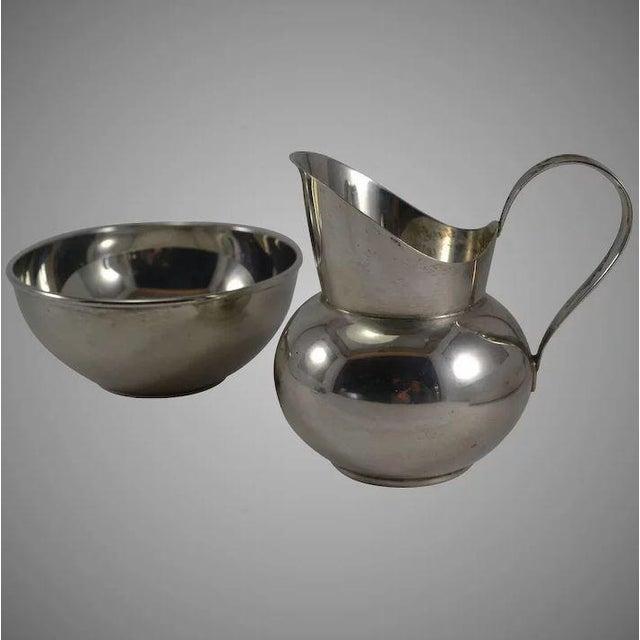 Gorham Sterling Silver Mid Century Modern Sugar & Creamer 772 773 For Sale - Image 10 of 10