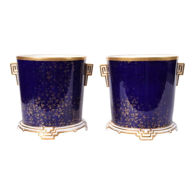 Late 19th Century Matching English Wedgwood Wine Coolers - a Pair For Sale