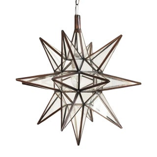 Moravian Star Lantern Clear For Sale