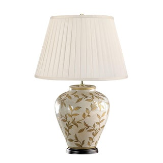 Brown Leaf Motif Table Lamp For Sale
