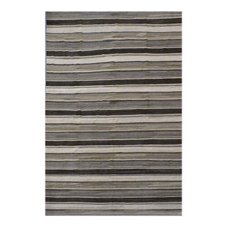 Contemporary Striped Afghan Kilim Rug - 9'6'' x 13'11'' For Sale