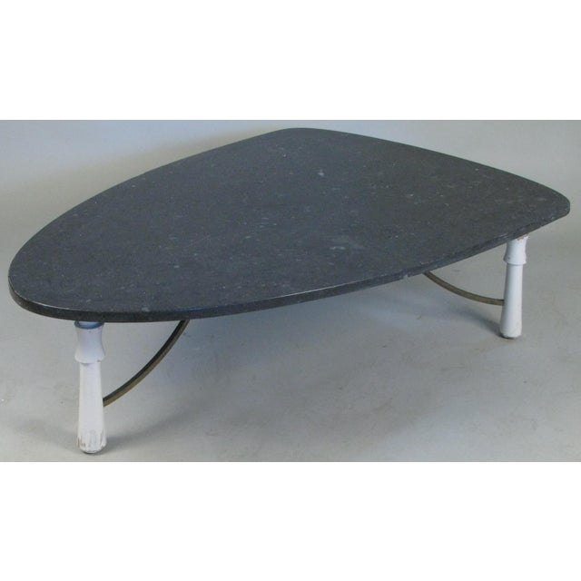 Marble Triangular 1950s Cocktail Table For Sale In New York - Image 6 of 6