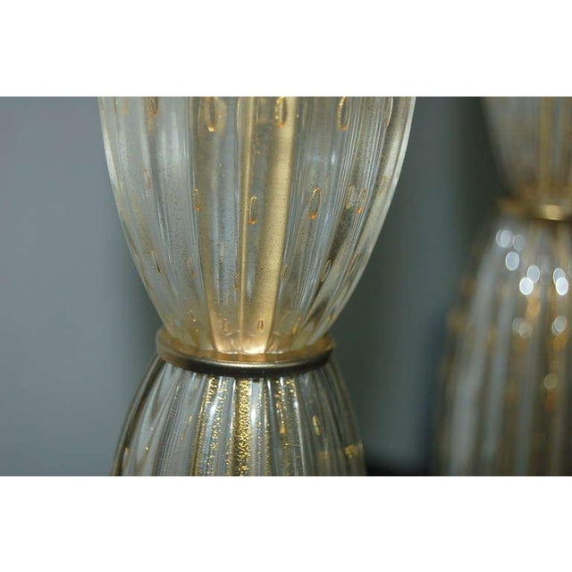 Vintage Murano Glass Table Lamps Champagne For Sale In Little Rock - Image 6 of 10