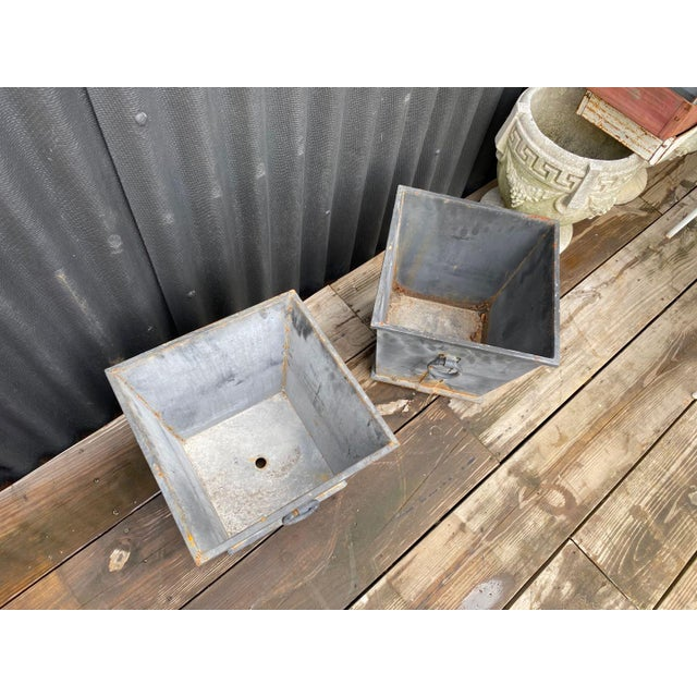 Steel Planters - a Pair For Sale - Image 4 of 8
