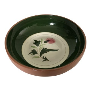 """Midcentury Stangl Pottery """"Thistle"""" 10""""d Large Serving Bowl For Sale"""
