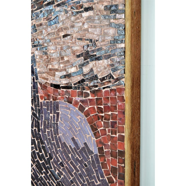 Cubist Glass Mosaic Wall Sculpture -- Mid Century Modern MCM Boho Chic Cottage Abstract Expressionism Folk Art - Image 8 of 11
