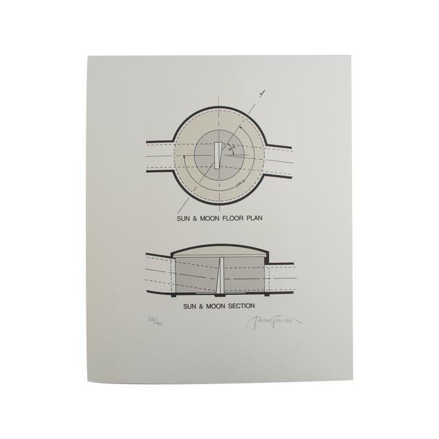 'Sun & Moon Section & Floorplan' Lithograph - Image 1 of 3