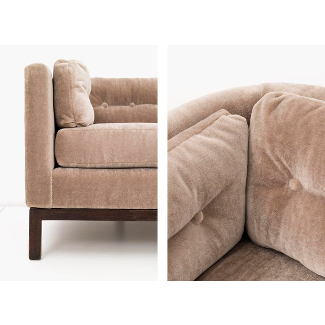 Tan Roger Sprunger Curved Back Sofa for Dunbar For Sale - Image 8 of 10