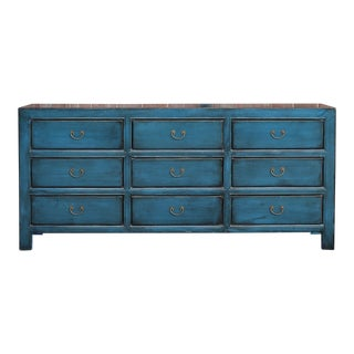 Beautiful 9 Drawer Asian Dresser For Sale