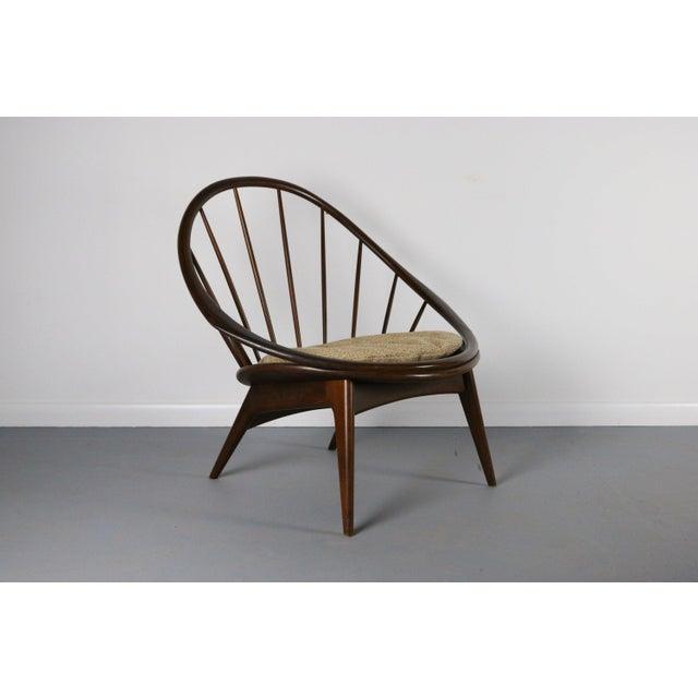 Mid-Century Modern Ib Kofod-Larsen for Selig Hoop Chair - Peacock Chair, Denmark For Sale - Image 3 of 5