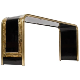 1970s Hollywood Regency Bernhard Rohne for Mastercraft Console Table For Sale