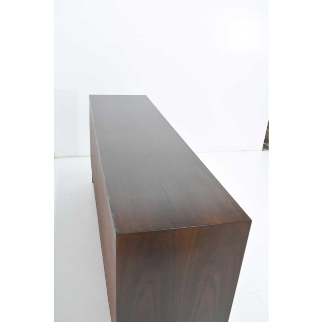 Mid-Century Modern Mid-Century Modern Walnut Sculpted Sideboard For Sale - Image 3 of 11