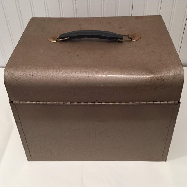 Retro Rustic Industrial Grey Metal Box - Image 6 of 10