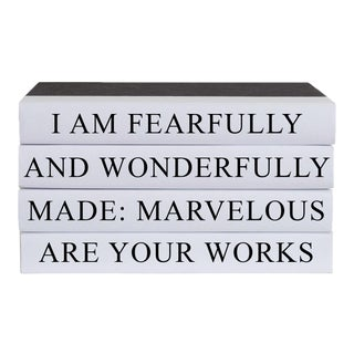 Wonderfully Made Quote Book Stack - 4 Pieces For Sale