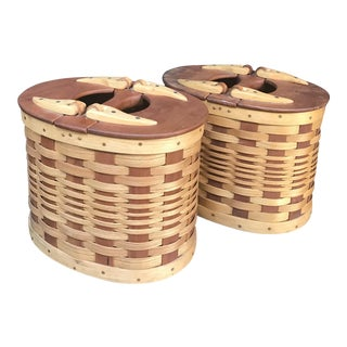 Pair of Wicker Fishing Baskets