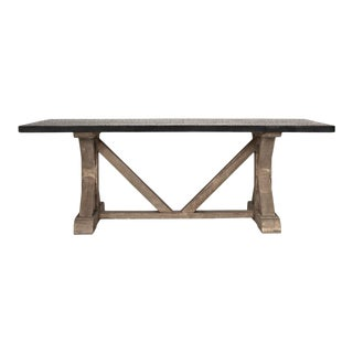 Qs X Base Table with Zinc Top Vintag For Sale
