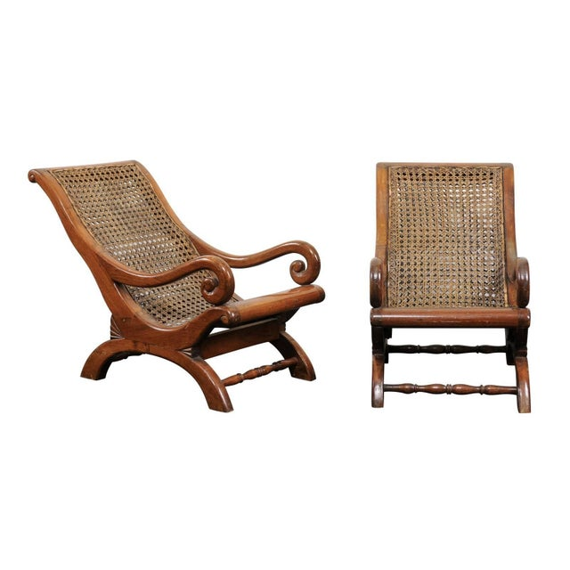 Pair of French 19th Century English Children's Chairs With Cane Backs and Seats For Sale - Image 11 of 11