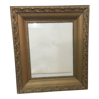 Antique Ornate Wood & Gesso Frame Old Gold Finish For Sale