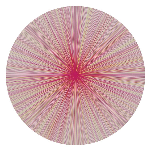 Contemporary Lines Placemat in Pink Multi For Sale - Image 3 of 3