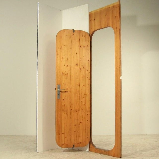 A Charlotte Perriand door from the Arc 1600 ski resort in Les Arcs (1967-1969), built by a team of architects, including...