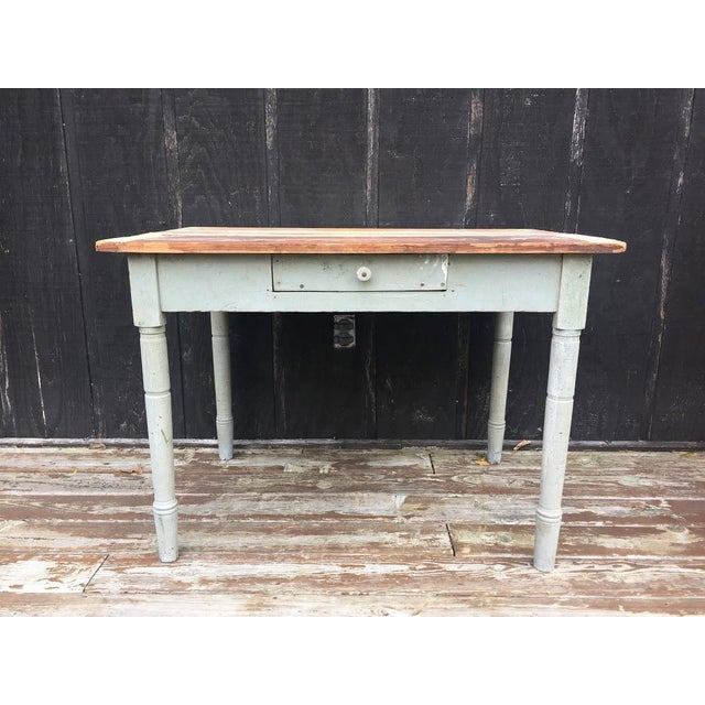 1900 - 1909 Distressed Farm Table For Sale - Image 5 of 9