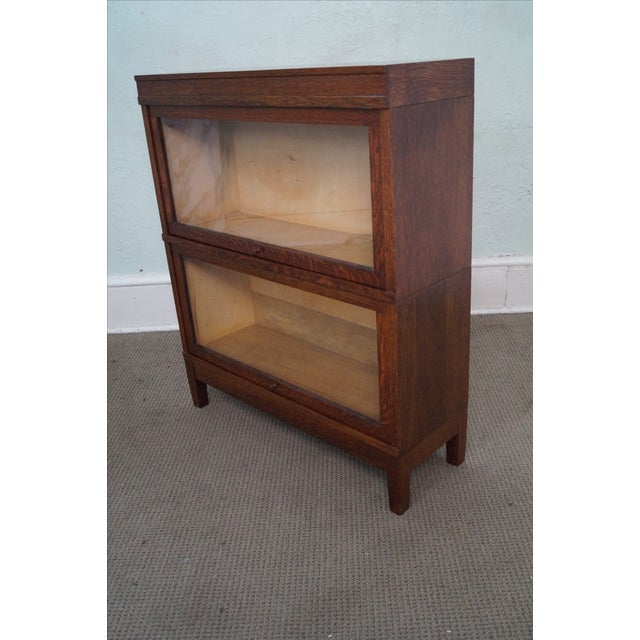 Globe Wernicke Antique Oak Two Section Bookcase - Image 9 of 10