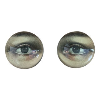 John Derian Eye Dome Paperweights - a Pair For Sale