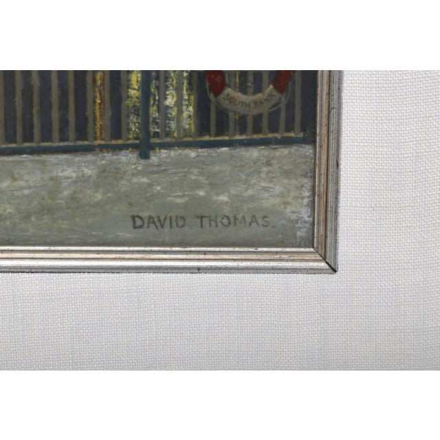 This acrylic on board painting is by the artist David Thomas and was recently acquired from a Palm Beach estate. The piece...