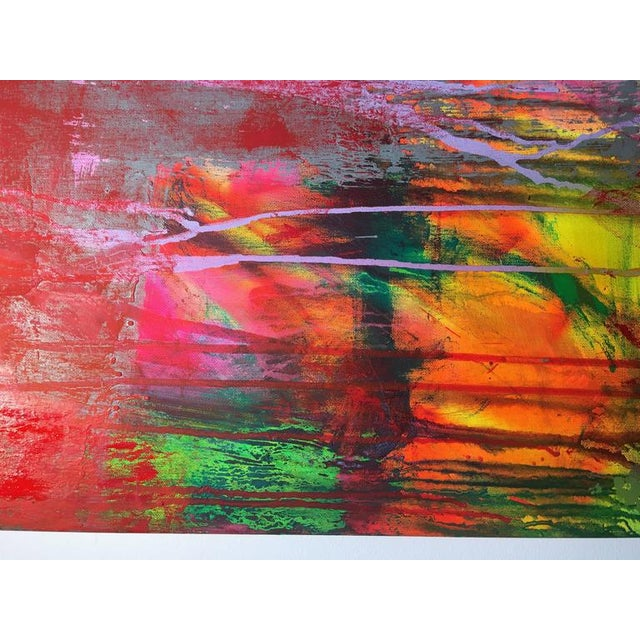 """Abstract Contemporary Abstract Oil Painting """"Obscura"""" by Mirtha Moreno For Sale - Image 3 of 8"""