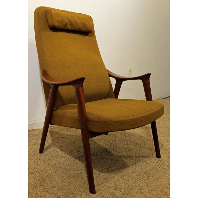 Mid-Century Danish Modern Folke Ohlsson Style Teak Lounge Chair For Sale - Image 9 of 9