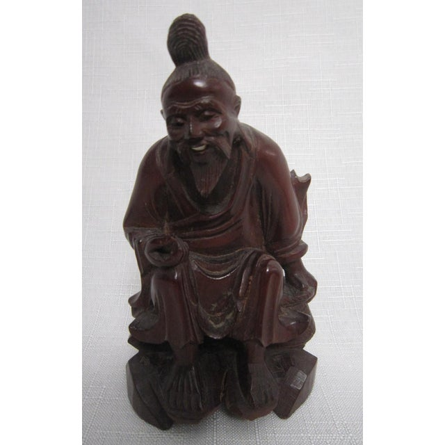 Chinese Rosewood Figures - Set of 3 For Sale In Orlando - Image 6 of 7