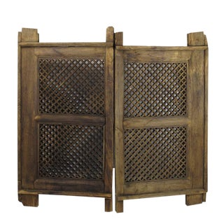 Mid-19th Century Antique Chinese Room Divider - a Pair