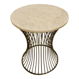 Contemporary Interlude Home Pinera Side Table For Sale
