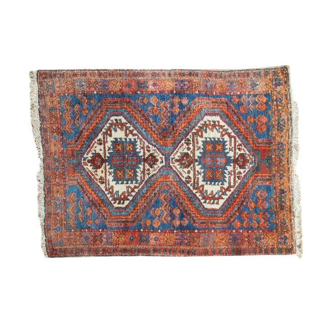 """Vintage Afshar Rug- 3'7"""" x 4'10"""" - Image 1 of 10"""