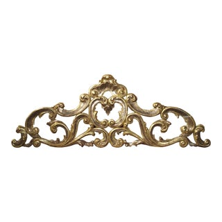 Sculpted Antique Giltwood Overdoor from Italy Circa 1850 For Sale